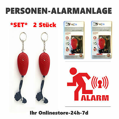 Panikalarm Personenalarm Taschenalarm Schlüsselanhänger Sirene Alarm laut 105dB