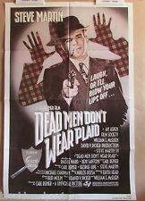 DEAD MEN DON'T WEAR PLAID~1 SHEET~ORIGINAL~MOVIE POSTER~1982~STEVE MARTIN~R WARD