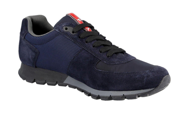 LUXUS PRADA PRADA PRADA MATCHRACE SNEAKER Zapatos 4E2700 BLAU NEU NEW 6 40 40,5 e39e98