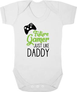 Future Gamer Comme Papa Neuf Body/gilet/croître, Baby Shower, Nouveau-né Cadeau-grow, Baby Shower, Newborn Gift Fr-fr Afficher Le Titre D'origine Frissons Et Douleurs