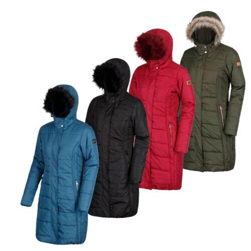 New Regatta Womens//Ladies Fermina II Long Length Parka Padded Jacket Size 10-28