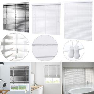 White/ Grey Modern Venetian Blinds 50mm Slats Living Room ...