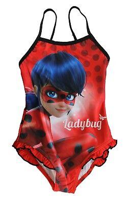 Rouge Miraculous Maillot de Bain Fille 1 pi/èce Ladybug