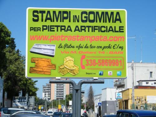 STAMPO per intonaco stampato FINTA PIETRA muro stampato malta cemento stampato