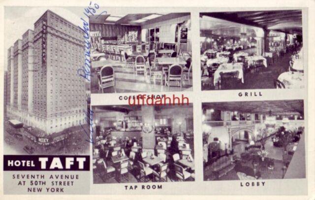 HOTEL TAFT SEVENTH AVENUE NEW YORK CITY, NY 1957 On Times ...