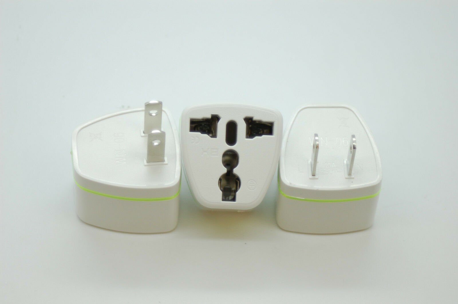 3x UK/EU/AU Canada, to US, Canada, UK/EU/AU Mexique, Brésil, Japon 2 Pin Power Plug, adaptateur de voyage a2fc69