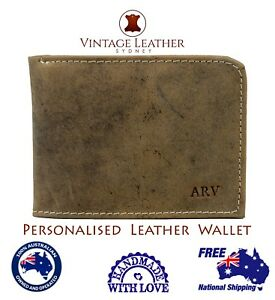 2f3d61548c New Personalised Leather Men's Slim Bi-Fold Credit Card Wallet ...