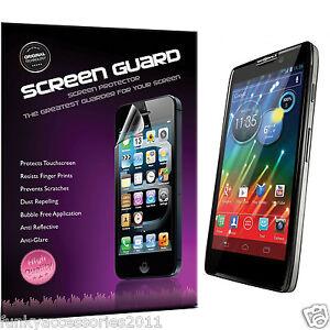 Motorola-RAZR-i-XT890-Quality-Crystal-Clear-LCD-Screen-Protector-Packs
