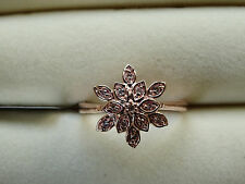 Certified Natural Pink Diamond VERY RARE 18K Rose Gold/925 Ring Size N-O/7