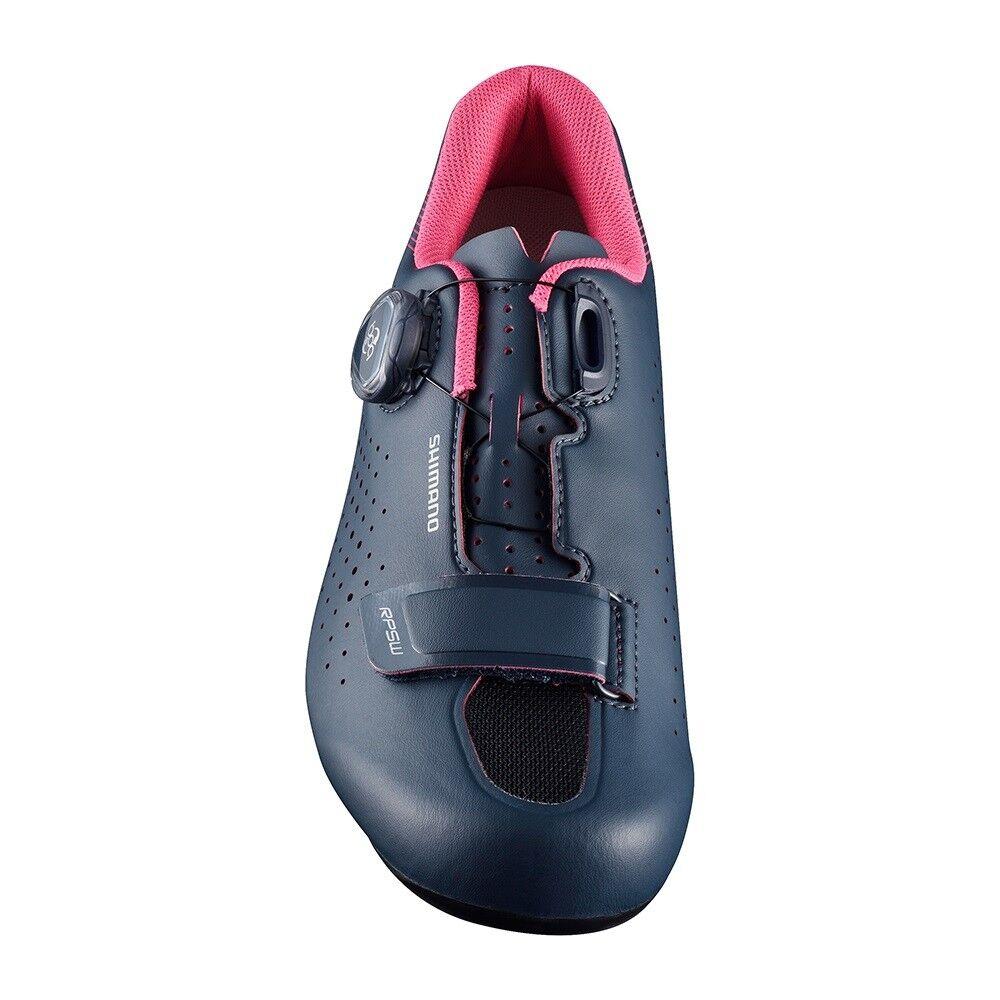 Shimano 2018 Boa RP5 Damen Kohlenstoff Boa 2018 Straßenrad Fahrrad Schuhe Marineblau - 36 e404de