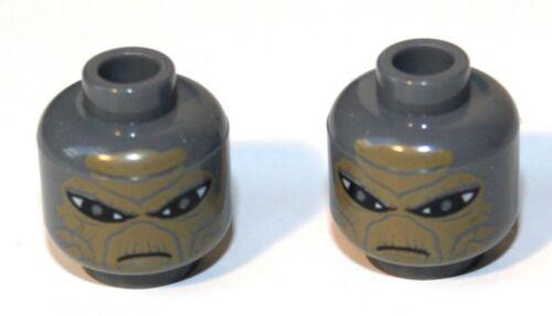 2x LEGO® Kopf mit Shahan Alama Gesicht 3626bpb0499 NEU dunkelgrau Star Wars