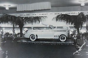 12X18-Black-amp-White-Picture-1941-Chevrolet-Convertible-with-accessories