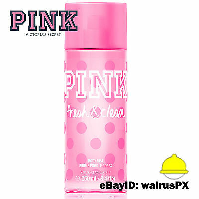 Victoria's Secret PINK FRESH & CLEAN Body Mist and Spray Splash 8.4 OZ FULL SIZE