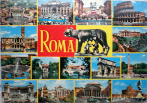 1969-cartolina-ROMA-souvenir-vedute-e-Lupa