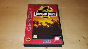 Jurassic-Park-Sega-Genesis-Video-Game-Cart-w-Box-Only-Authentic-Tested