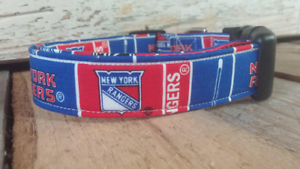 Image is loading New-York-Rangers-Dog-Collar-buckle-Martingale-w- 2c84766df