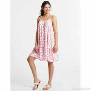 Ex-M-amp-S-Ladies-Summer-Strappy-Beach-A-Line-Dress-Pink-Palm-Print-Sizes-8-22