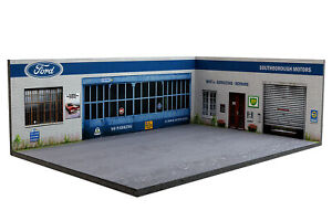 Diorama-Garage-Ford-UK-Southborough-Motors-1-43eme-43-3-D-H-R-013