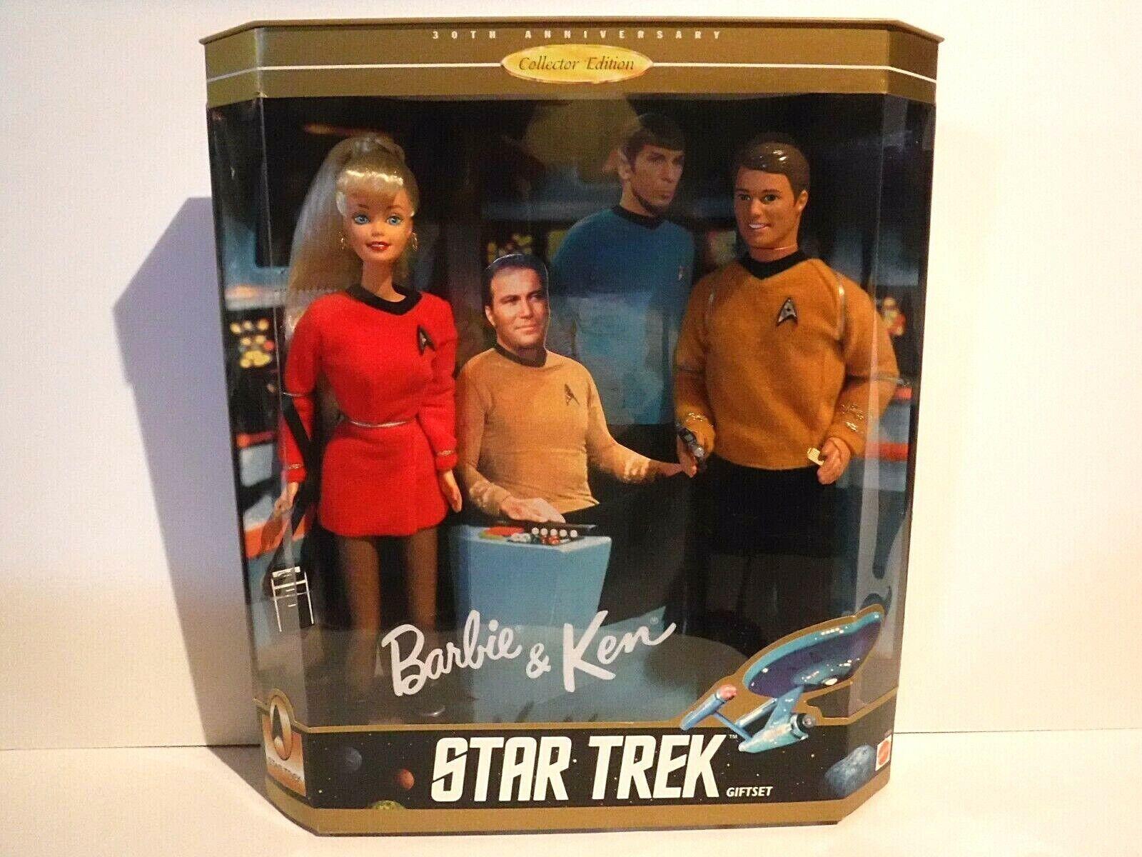 Nuevo Conjunto de regalo de Star Trek-Ken & Barbie - 30TH Ann. edición de coleccionista - 1996-mnrfb