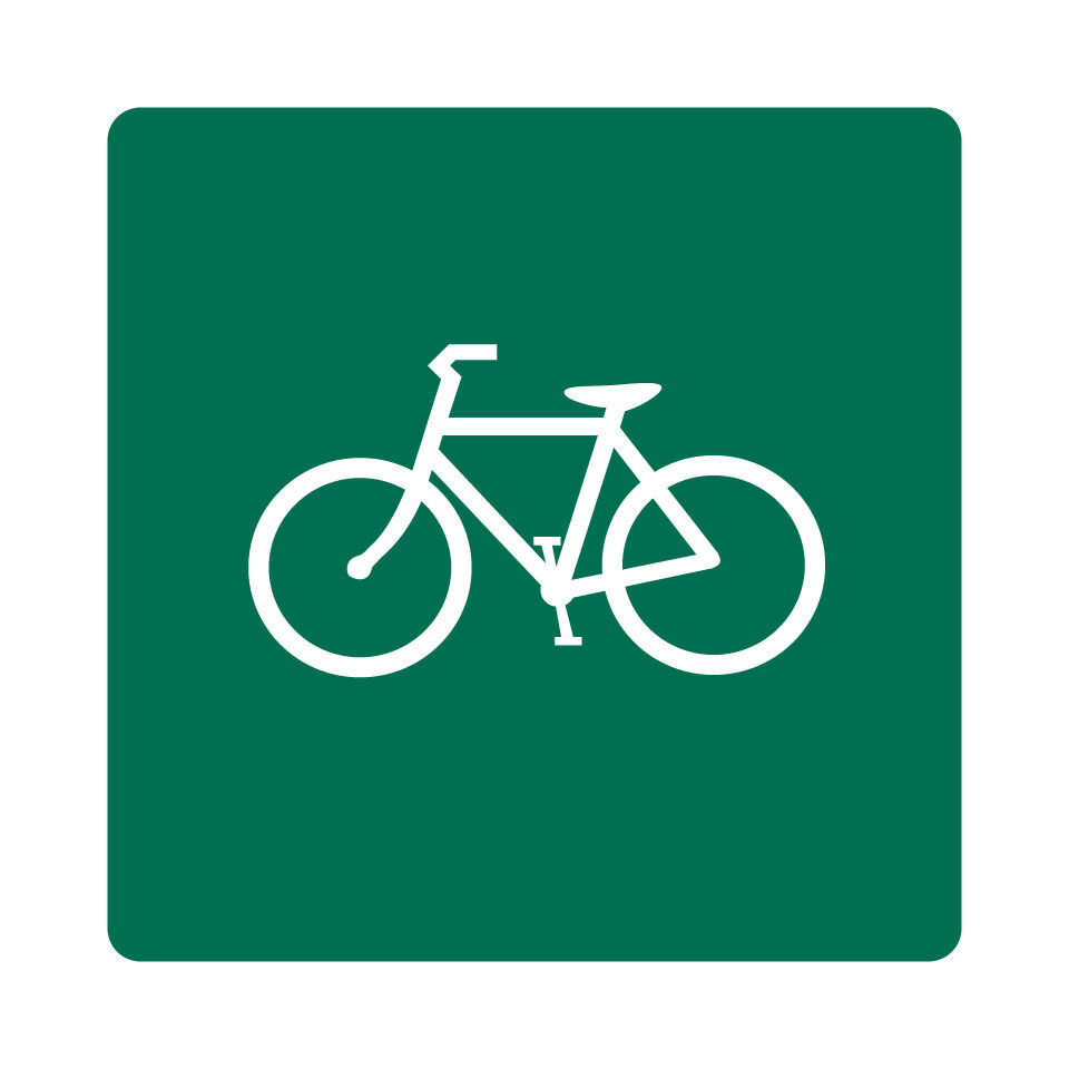 D11-1a - Bicycles Permitted Sign - 18 x 18 - A Real Sign. 10 Year 3M Warranty.