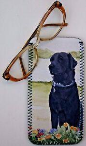 LABRADOR-RETRIEVER-BLACK-DOG-GLASSES-CASE-POUCH-SANDRA-COEN-ARTIST-PRINT