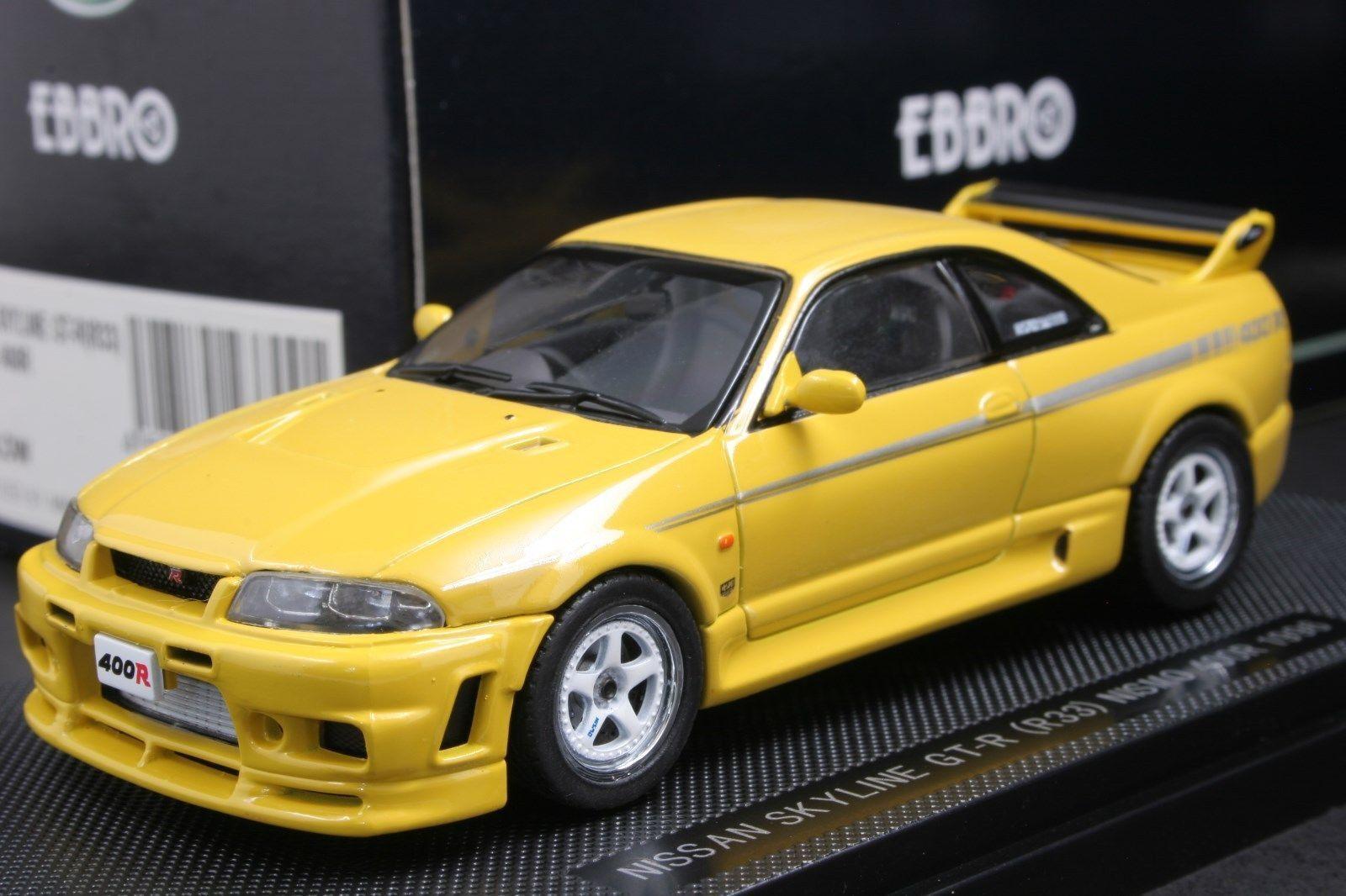 EBBRO 1 43 Scale Nissan Nismo Skyline GT-R R33 400R jaune Die cast voiture modèle