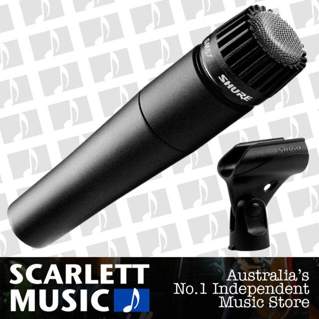 Shure SM57 Dynamic Instrument Microphone SM-57 w/Mic Clip + 2 Years Warranty