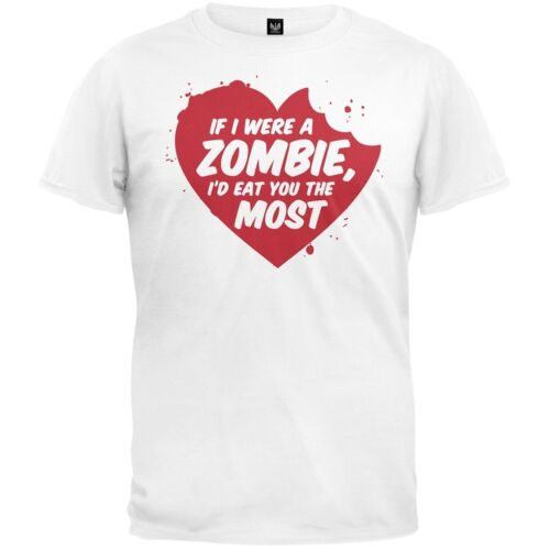 Valentine/'s Day If I Were A Zombie Adult Mens T-Shirt