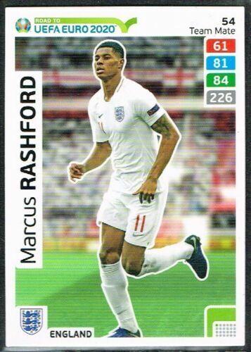 CARD PANINI ADRENALYN ROAD TO EURO 2020 N.54 RASHFORD ENGLAND