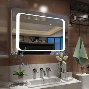 Details About Led Illuminated Bathroom Mirror Ip44 Demister Sensor Touch Backlit Soft Light Uk