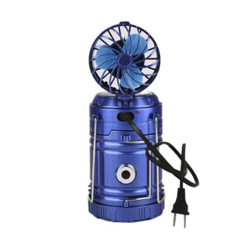 Solar Rechargeable Fan Multi-function LED Camping Light Tent Lamp Flashlight USA