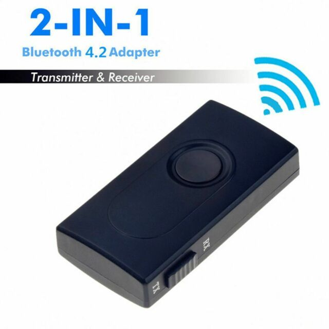 Wireless Bluetooth Audio Transmitter + Receiver 3.5MM RCA Music 2 in1 Adapter