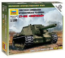 6182 SOVIET SU-152 ASSAULT GUN - ZVEZDA 15mm 1/100 RUSSIAN - WW2 FLAMES OF WAR