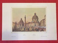 PH. BENOIST / LEMERCIER - ROME 4 FINE ART COLOR PRINT REPLICA of LITOGRAPHY