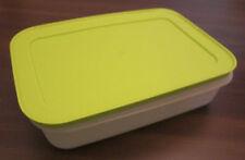 Tupperware G 36 EisKristall Gefrierbehälter 1,0 l flach Weiß / Grün Neu OVP