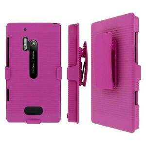 MPERO Collection 3-In-1 Tough Kickstand Case for Nokia Lumia 928 - Pink