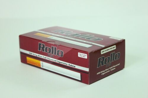 FREE INJECTOR 1000 RED 17mm EMPTY ROLLO TUBES Cigarrette Tobbacco Filter