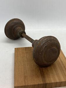 Antique Victorian Cast Iron  Door Knob Doorknob 2 1//4窶�