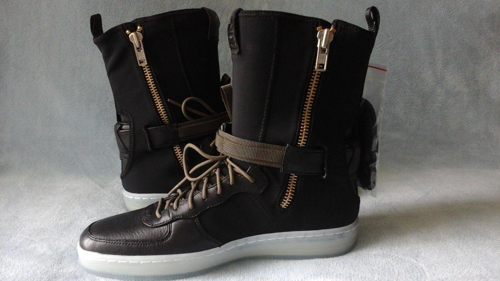 Nike AF1 Downtown HI SP Acronym Black Olive 649941-003 Size 8