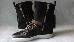 huge discount ab521 bee99 Image is loading Nike-AF1-Downtown-HI-SP-Acronym-Black-Olive-
