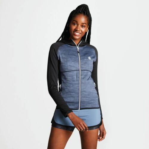 Dare 2b Women/'s Courteous Lightweight Hooded Core Stretch Midlayer Black