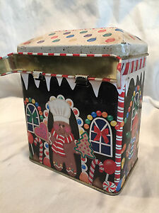 COLLECTIBLE-GINGERBREAD-SWEET-SHOPPE-TIN-TRINKET-OR-CANDY-BOX