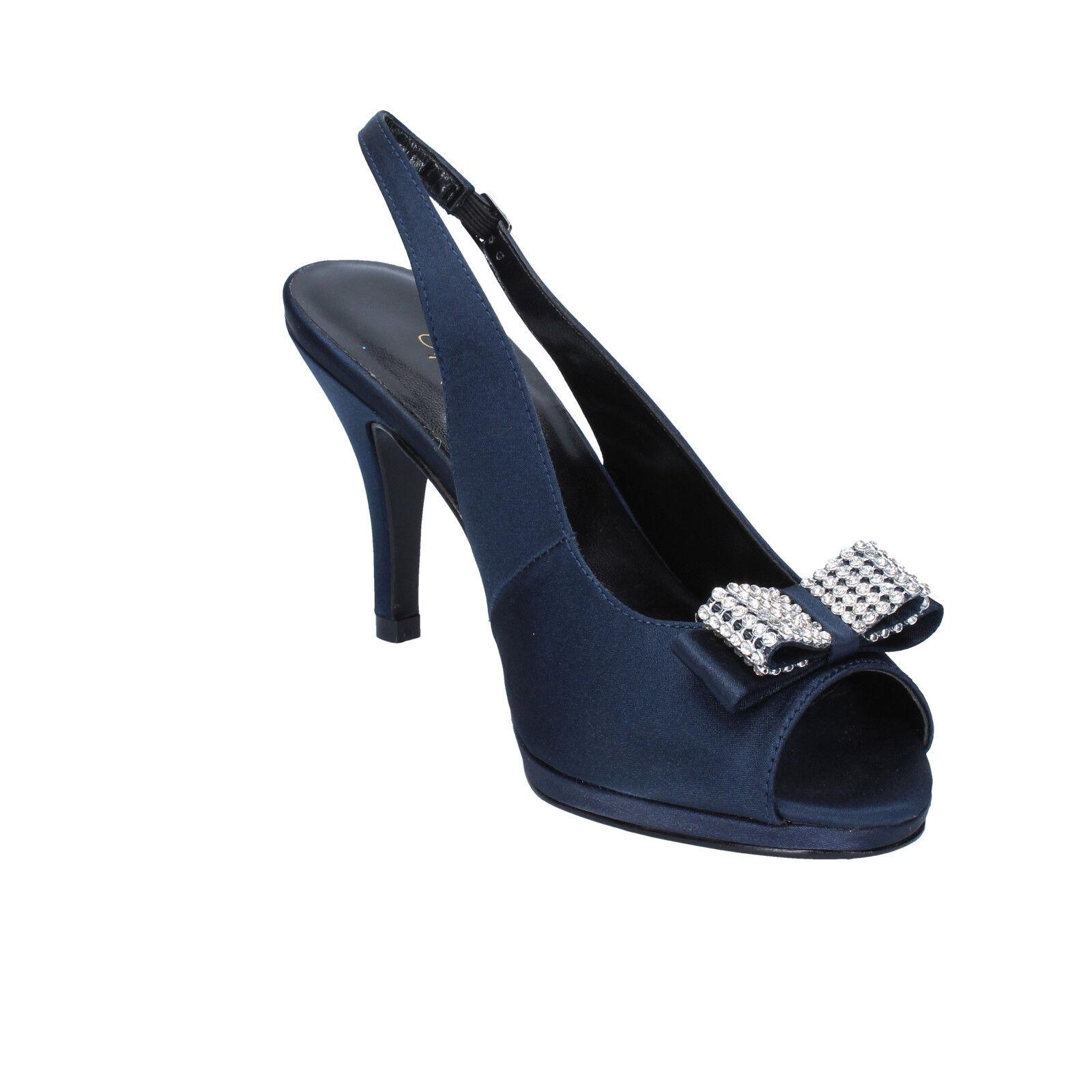 Scarpe blu donna TOP Donna 37 EU decolte blu Scarpe raso AM860-E 439aef