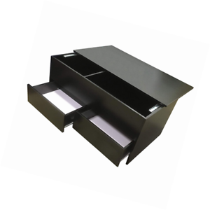 Coffee Table With Sliding Top Storage.Details About Redstone Black Coffee Table Slide Top With Storage Inside And 2 Drawers Wood