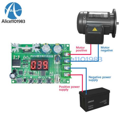 Digital Display PWM Motor Speed Controller 600W 10A Governor Regulator DC 12-60V