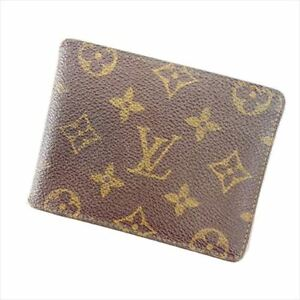 Louis-Vuitton-Bifold-Monogram-PVC-leather-Brown-Woman-Authentic-Used-Y1882