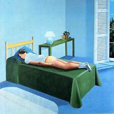 "DAVID HOCKNEY BOOK PRINT ""THE ROOM TARZANA"" MAN SLEEPING SEMI-NUDE REAR VIEW '67"