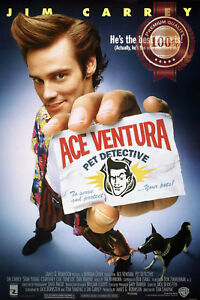 NEW-ACE-VENTURA-PET-DETECTIVE-MOVIE-FILM-ORIGINAL-CINEMA-PRINT-PREMIUM-POSTER