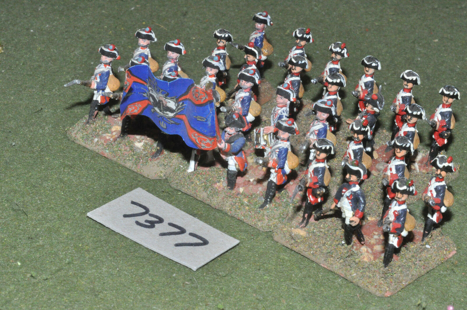 25mm 7YW   prussian - seven years war musketeers 30 figures metal - inf (7377)