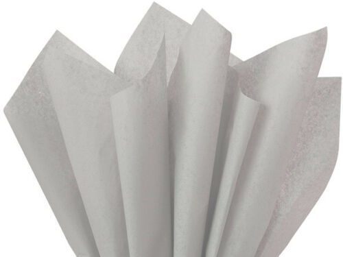 "Gray Color Tissue Paper 24 Sheets 20x30/"" Graduation Holiday Weddings Gifts Poms"